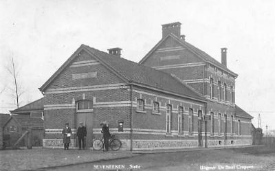 Prentkaart Spoorlijn 59 station Zeveneken