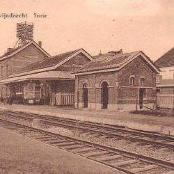 Prentkaart Spoorlijn 59 station Zwijndrecht