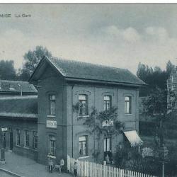 Prentkaart Spoorlijn 54 station Temse