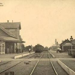 Prentkaart Spoorlijn 59 station Sinaai