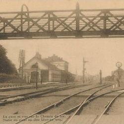 Prentkaart Spoorlijn 59 station Lokeren, voetgangersbrug.