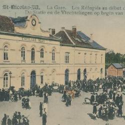 Prentkaart Spoorlijn 59 station Sint- Niklaas 1914