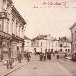 Prentkaart Spoorlijn 59 station Sint- Niklaas 1905