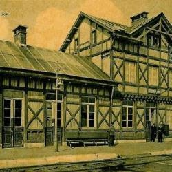 Prentkaart Spoorlijn 57 station Grembergen