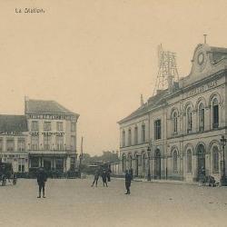 Prentkaart Spoorlijn 59 station Sint- Niklaas 1910
