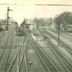 Prentkaart Spoorlijn 57 station Dendermonde