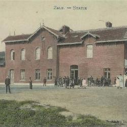 Prentkaart Spoorlijn 57 station Zele