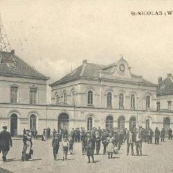Prentkaart Spoorlijn 59 station Sint- Niklaas 1900