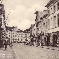 Prentkaart Spoorlijn 59 station Sint- Niklaas 1948