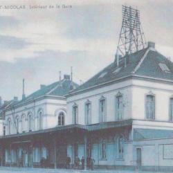 Prentkaart Spoorlijn 59 station Sint- Niklaas 1902