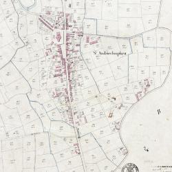 Kadastraal plan Belsele, detailopname dorpskern
