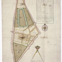 Figuratieve kaart markt Sint-Niklaas, 1765