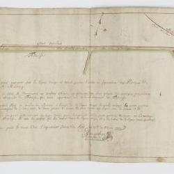 Kaart van grensscheiding Sint-Niklaas en Temse, 1750