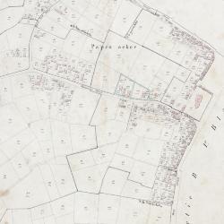 Kadastraal plan Sinaai, detailopname dorpskern