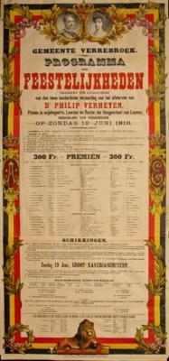 De affiche van de Verheyenviering op 12 juni 1910, 1910