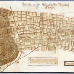 Figuratieve kaart van de heerlijkheid van Cauwerburgh