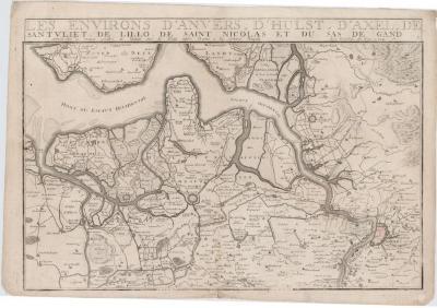 Les environs d'Anvers, d'Hulst, d'Axel, de Santvliet, de Lillo, de Saint-Nicolas et du Sas de Gand