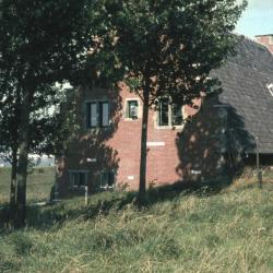 Wapenschild van Doel boven de ingang van het gemeentehuis aan de Kerkstraat
