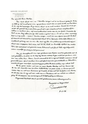 Brief van Gerard Walschap aan Anton Vlaskop