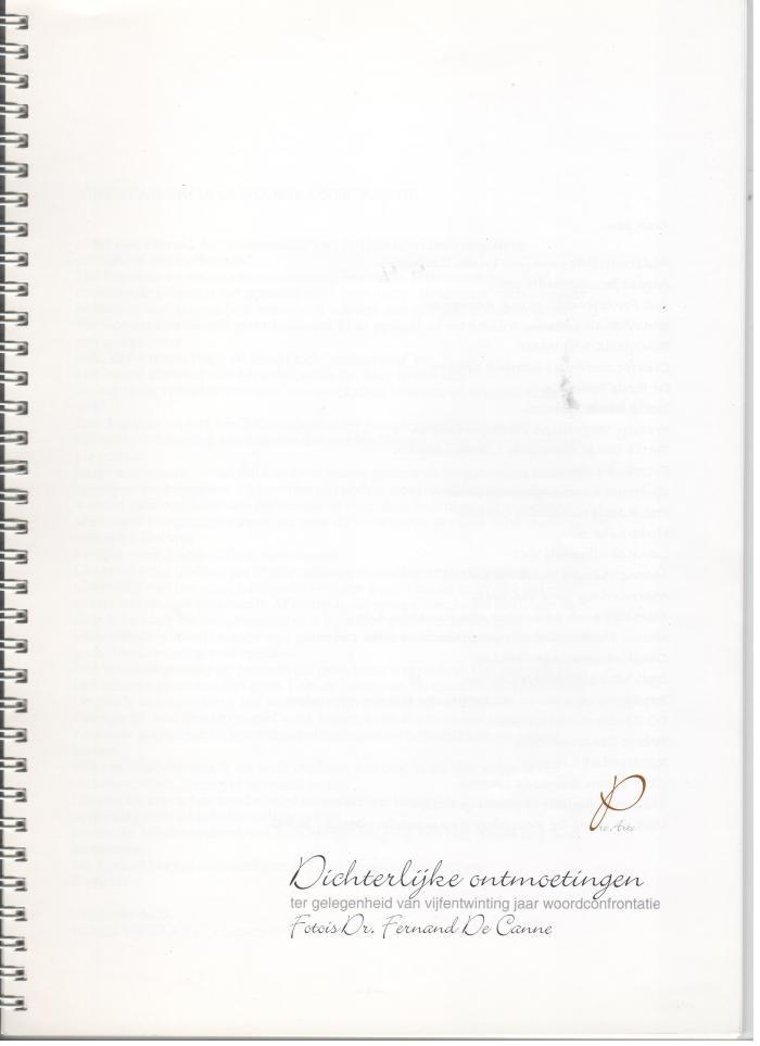 Dichterlijke ontmoetingen : 25 jaar woordconfrontatie  Pro Arte