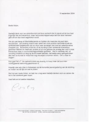 Anton Vlaskops contacten met Carla Walschap