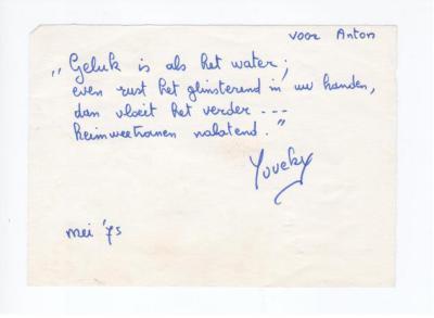 Anton Vlaskops contacten met dichteres Maria Tereecken