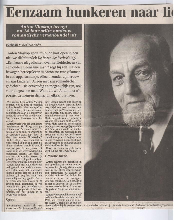 Het Nieuwsblad : De rozen der verbeelding : Anton Vlaskop