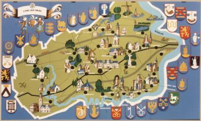 Toeristische kaart van het Waasland