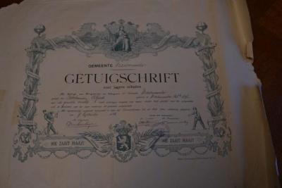 Getuigschrift afgeleverd aan Alfred Boschman