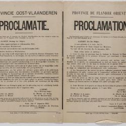 1914-Aankondiging van de staat van beleg