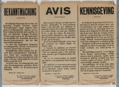 1914-Kennisgeving dat Belgische  bevelen ongeldig zijn