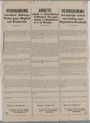 1914-Buitenlandse betalingen verboden