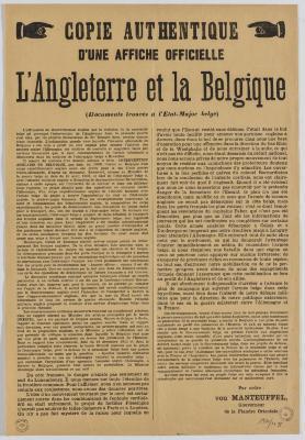 1914-Copie Authentique d'une affiche officielle