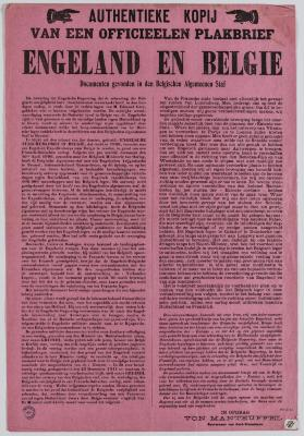 1914-Copie van een officiele affiche Engeland en België