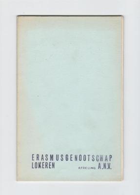 Anton Vlaskop en het Erasmusgenootschap Lokeren