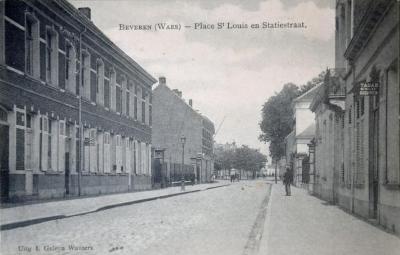 Statiestraat en Place Saint-Louis, Beveren