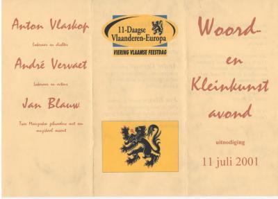 Anton Vlaskop draagt voor op 11 juli 2001
