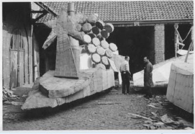 opbouw bloemenstoet 1965-1970