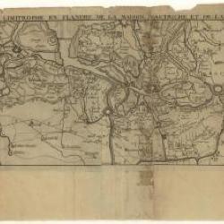 Kaart van de grens tussen Oostenrijks Vlaanderen en de Hollandse Republiek