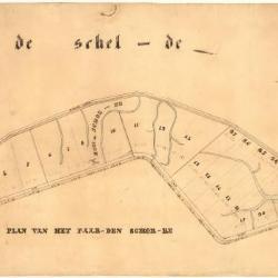 Perceelkaart van het Paardenschor